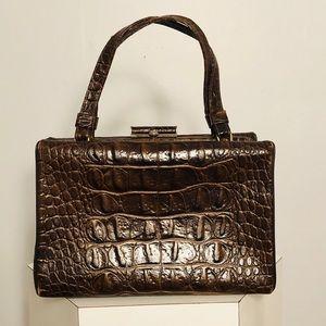 "Handbags - Vintage ""Croc"" Pattern Handbag"